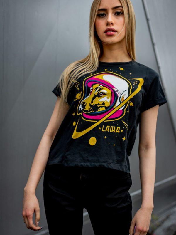 Camiseta Conmemorativa Negro Laika