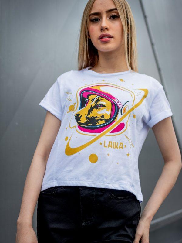 Camiseta Conmemorativa Blanco Laika