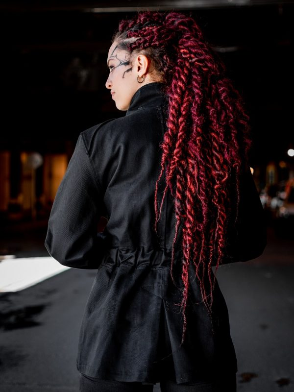 Cazadora Militia Negra Mujer
